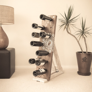 Stencil Design Wine Rack