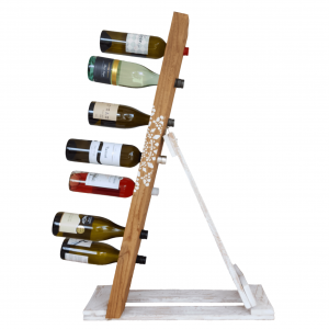 wine rack reclaimed timber - stencil affair