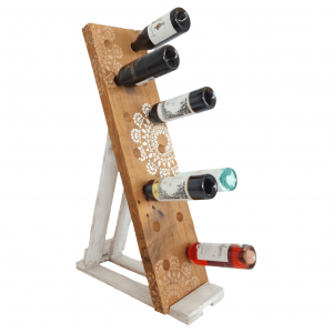 wine rack recycled timber - stencil affair