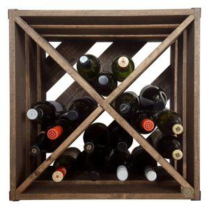 Palatable cube wine rack