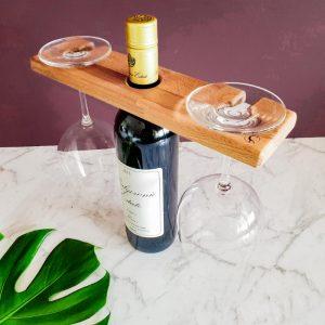 Wine caddy glass holder