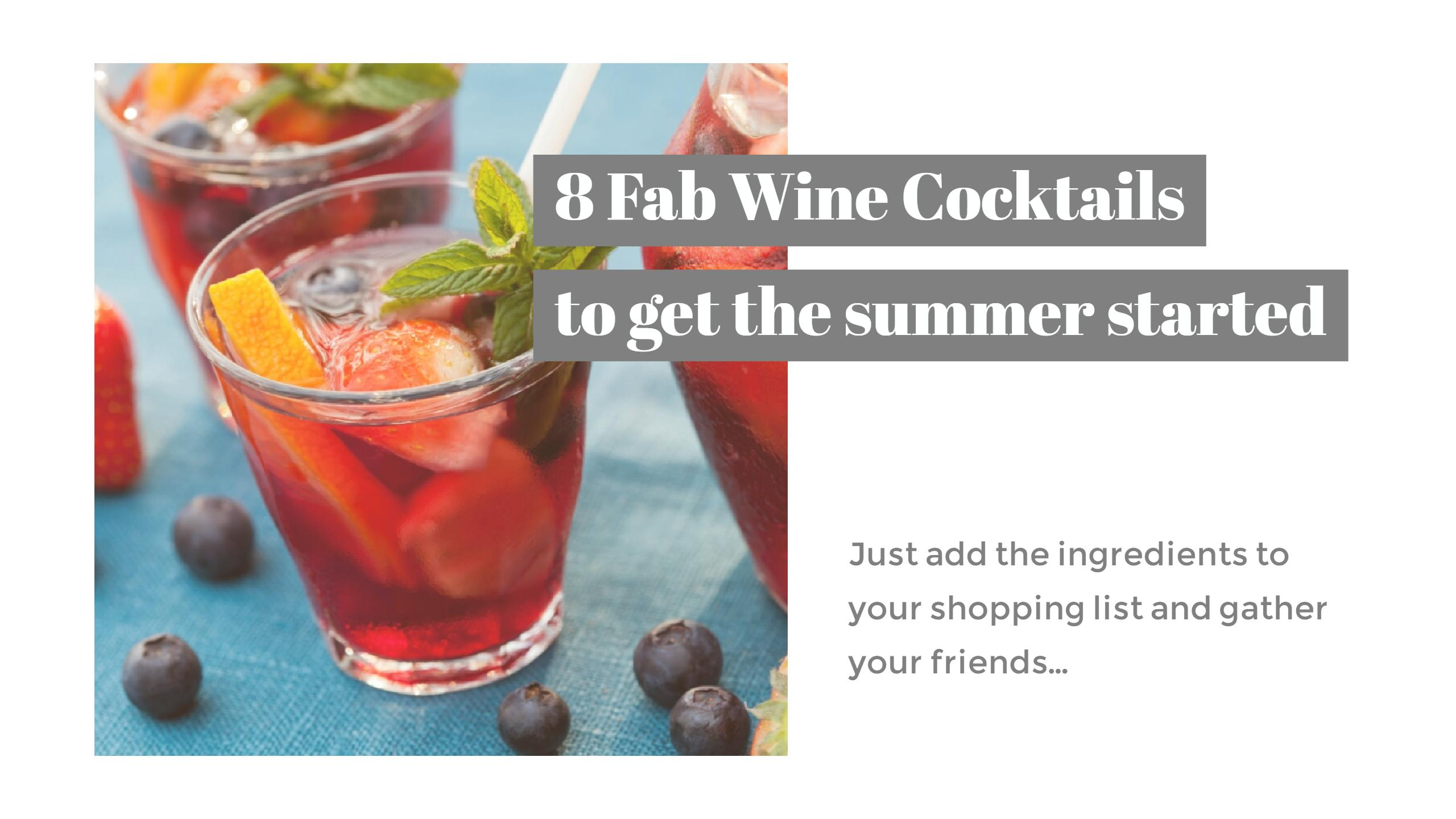 Wine cocktails header