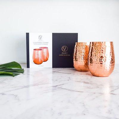 Copper wine glasses