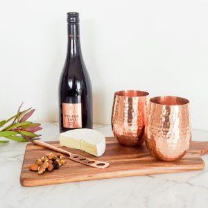 Copper wine glasses 2
