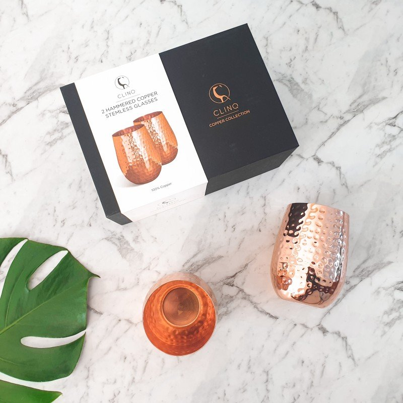 Stemless Copper Glasses