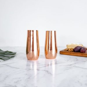 copper stemless champagne flutes wholesale