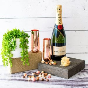 Champagne and Copper Flutes Gift