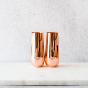 Stemless Champagne Flutes Copper