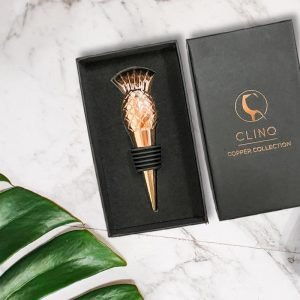 Pineapple Rose Gold Bottle Stopper