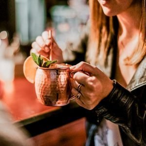 Copper Moscow Mule Mug handle
