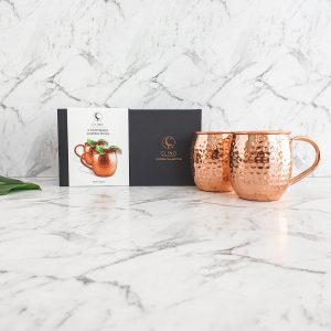 Copper Moscow Mule Mugs Pair