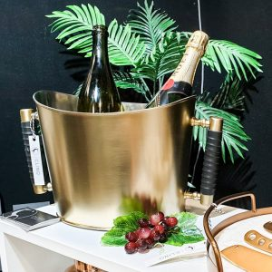 brass champagne bucket with handles