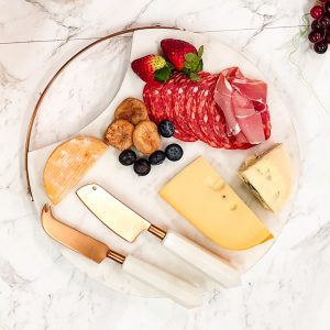 copper marble cheese knives