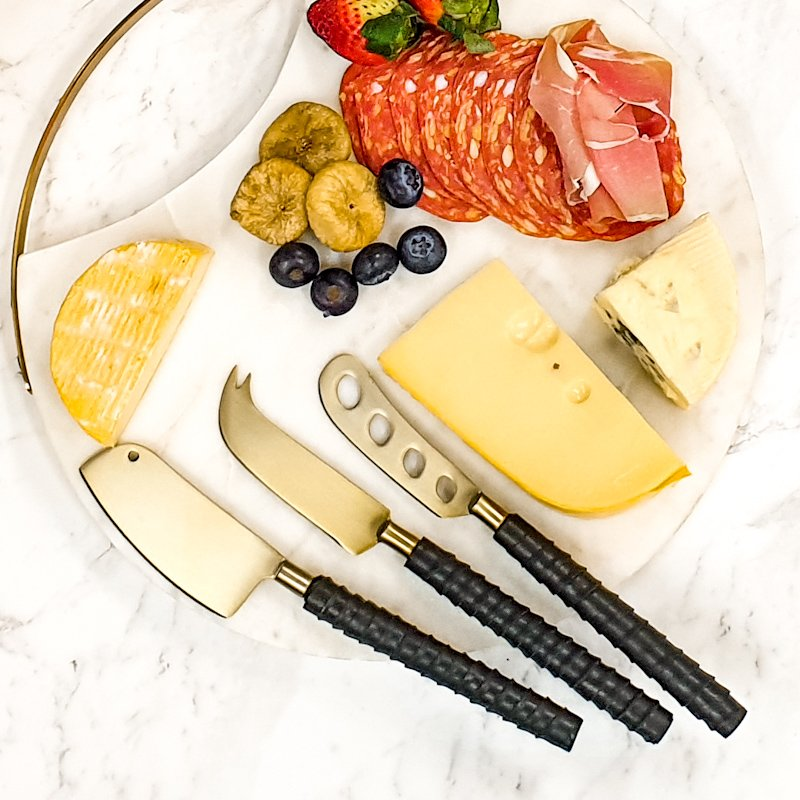 Brass cheese knives