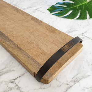 Long wooden serving board