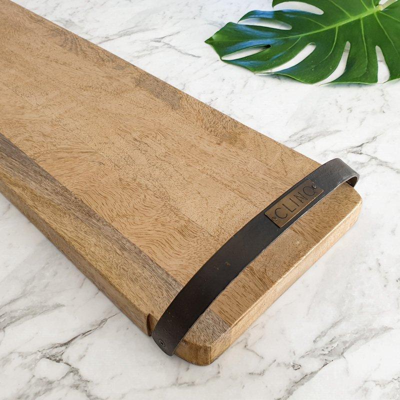 Long wooden serving board