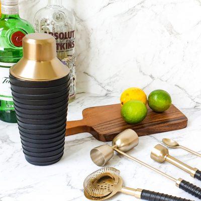 Unique brass cocktail shaker