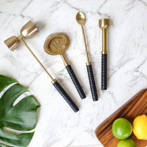 brass cocktail tool set