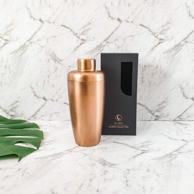 matt copper cocktail shaker