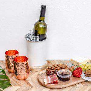 White Single Bottle Wine Cooler