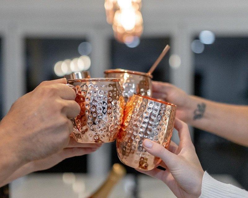 hammered mugs