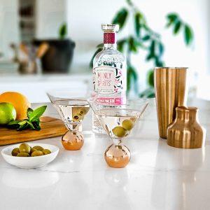 Copper Stemless Martini Glass