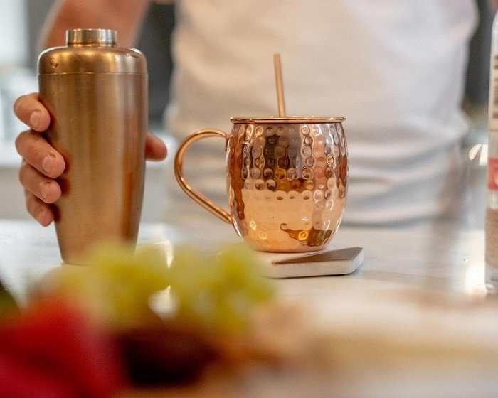Copper Mug and Cocktail Shaker